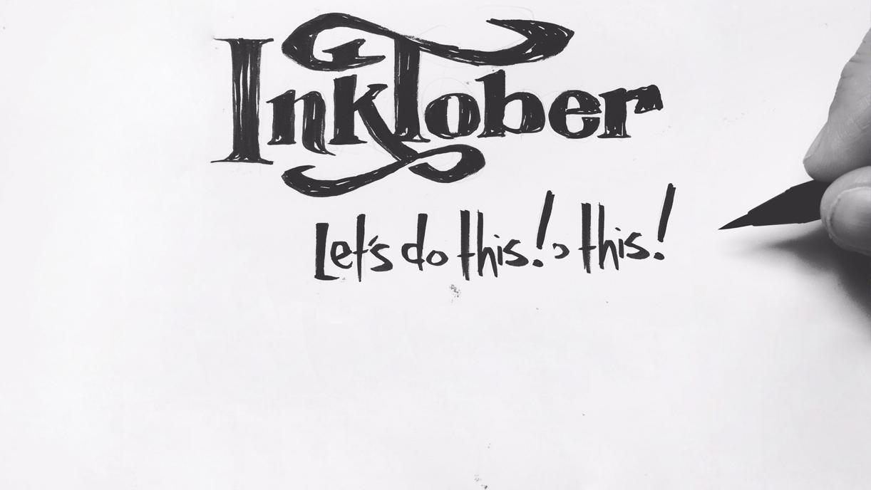 Inktober - il mese dell'inchiostro