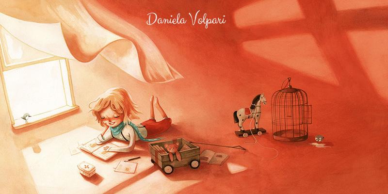 Illustrazione di Daniela Volpari dal libro Amelia che sapeva volare, ed. Giralangolo