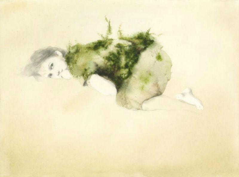 """Fonte: Un'illustrazione di Marina Marcolin per """"Poesie della notte, del giorno, di ogni Cosa intorno"""", Topipittori, 2014"""