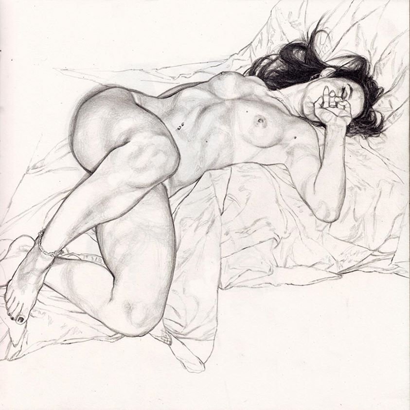 Ritratto e disegno istintuale- di Riccardo Mannelli
