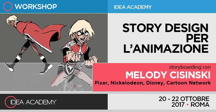 "Story Design per l'animazione – di MELODY CISINSKI AKA ""MYLYDY"""