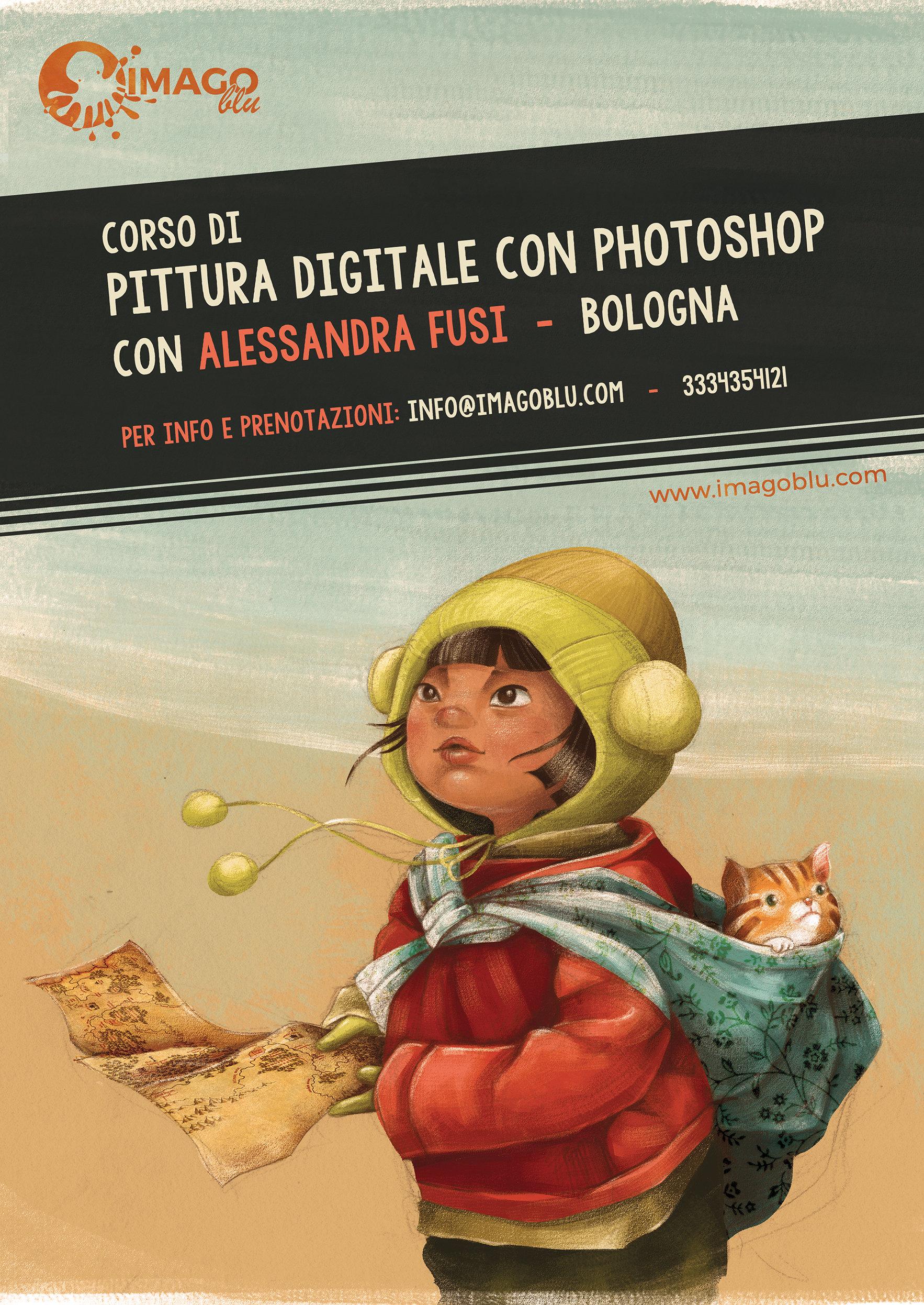 Corso annuale di pittura digitale con Photoshop – di Alessandra Fusi