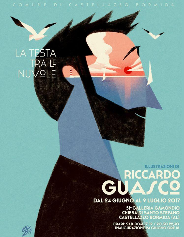 La testa tra le nuvole – mostra di Riccardo Guasco