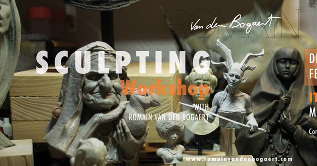 Sculpting workshop in Milano : Female beauty – con Romain Van den Bogaert