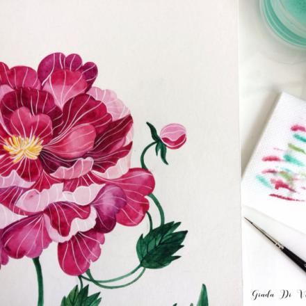 Illustrare ad acquerello #3 : dipingere un fiore