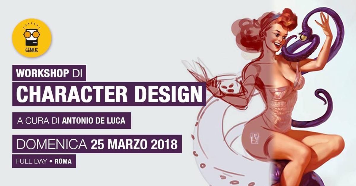 Workshop Character Design – con Antonio De Luca