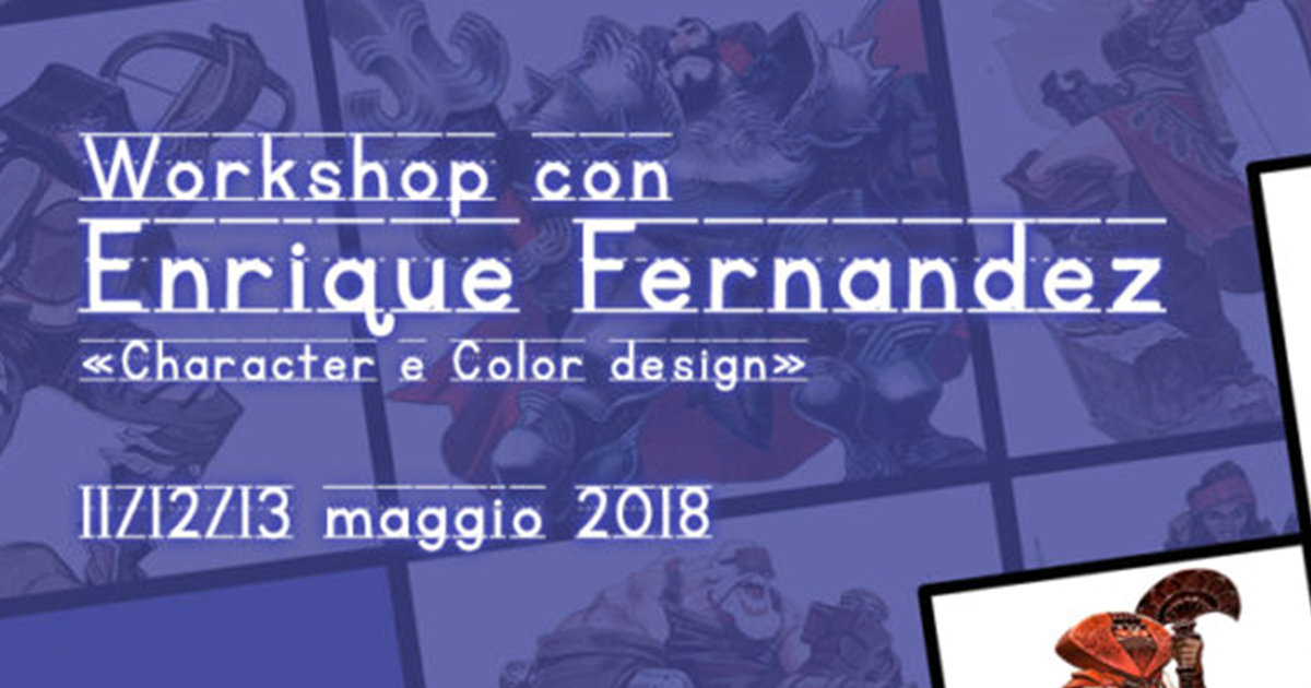 Workshop di Character e Color design – con Enrique Fernández