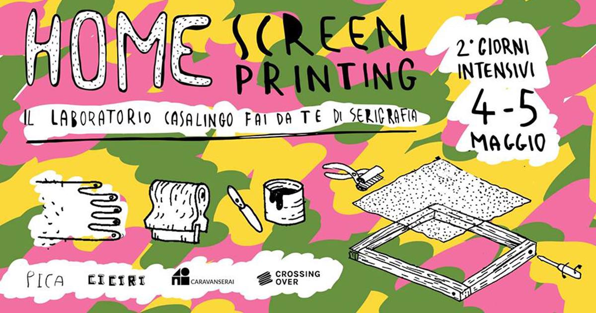 Home Screen Printing – laboratorio fai da te di serigrafia