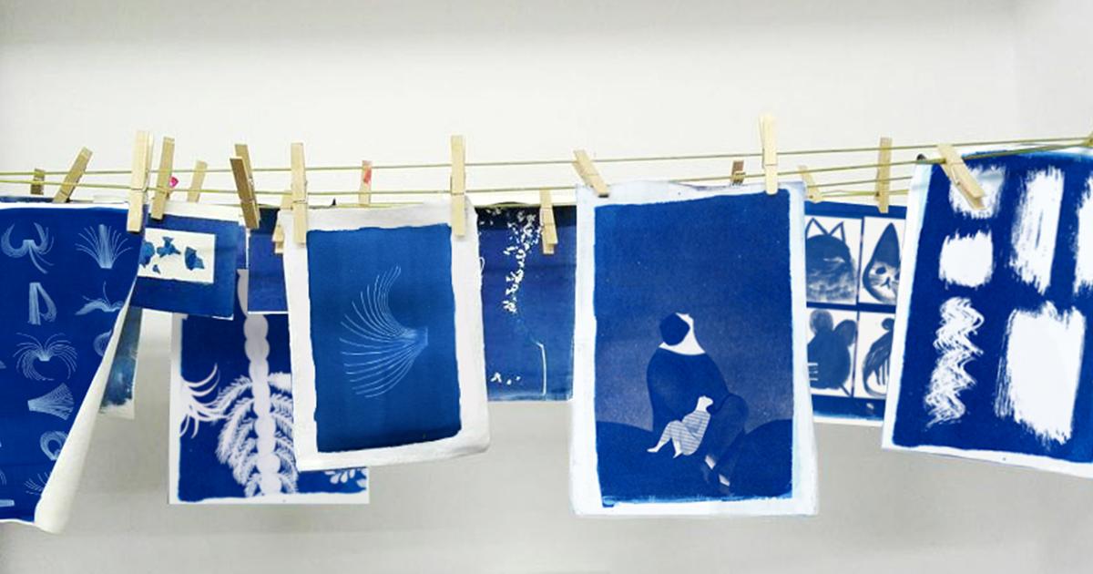 Cianotipia, usare la luce per illustrare – con Violeta Lopiz
