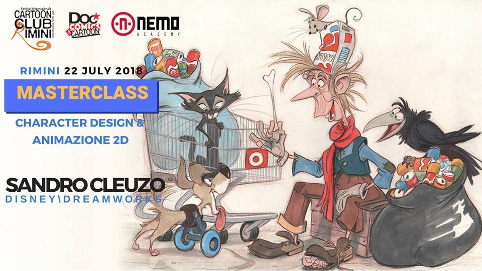 Masterclass in character design & animazione 2D