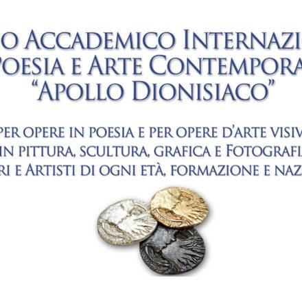 Premio Internazionale di Poesia e Arte Contemporanea Apollo dionisiaco Roma 2019