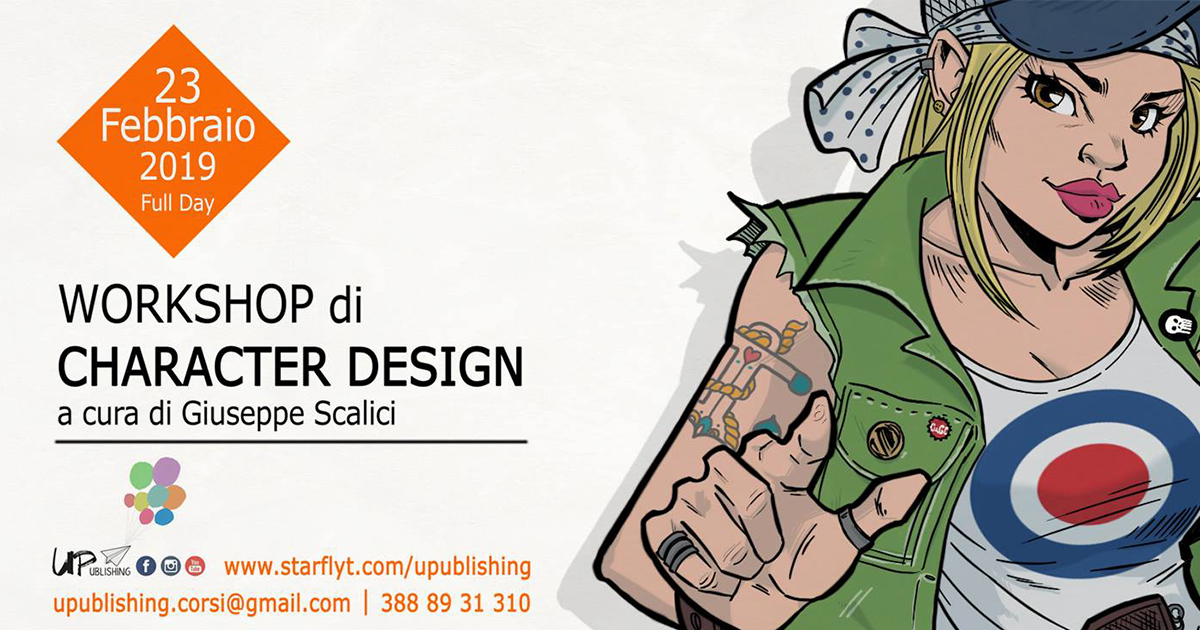 Workshop di Character Design – con Giuseppe Scalici