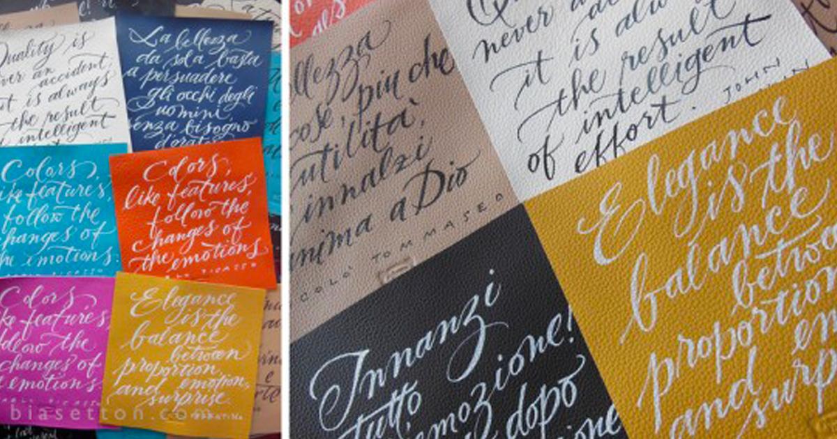 """Workshop di calligrafia """"Scrivere Meglio"""" – con Francesca Biasetton"""