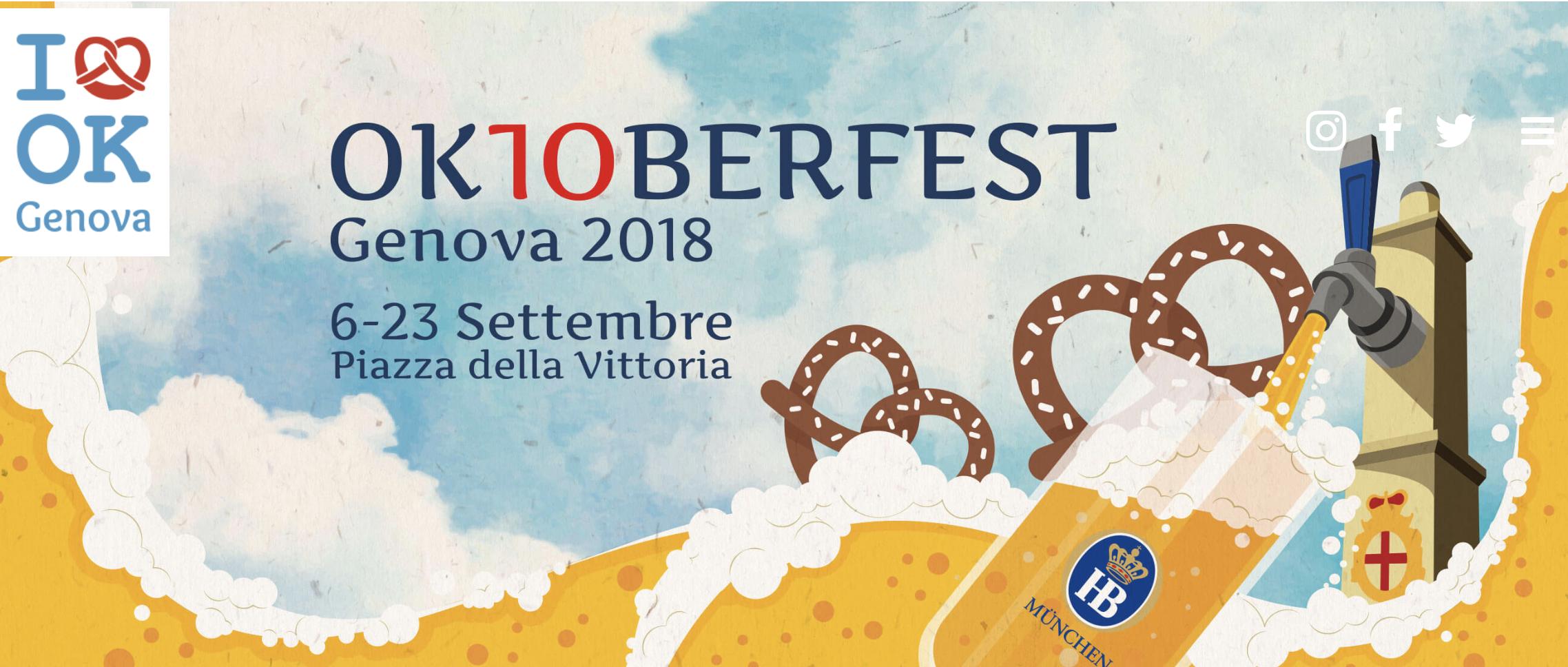 Crea l'illustrazione di Oktoberfest genova 2019