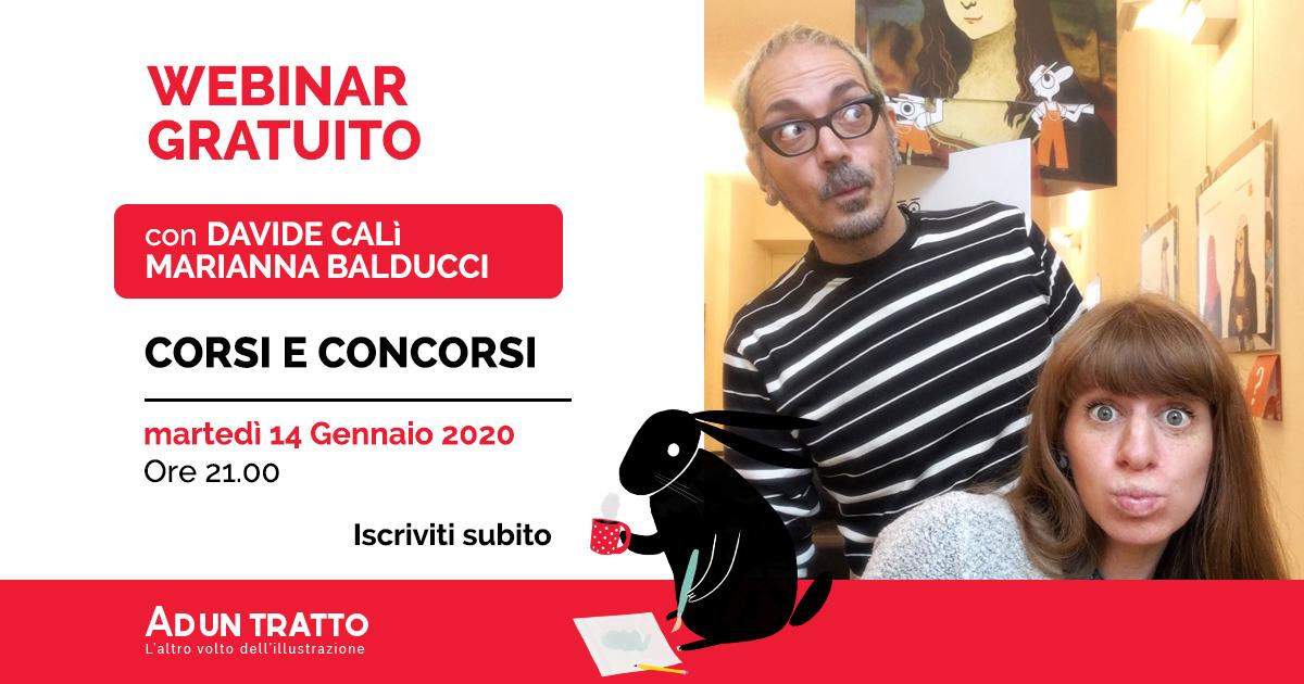 Corsi e Concorsi – Webinar Gratuito con Davide Calì e Marianna Balducci