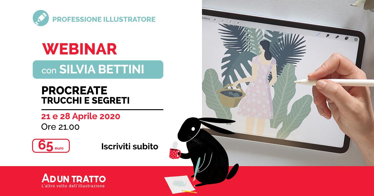 Procreate, trucchi e segreti – Webinar teorico/pratico con Silvia Bettini