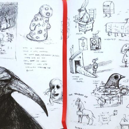 Sketchbook d'autore: alla corte del re degli uccelli con Shaun Tan