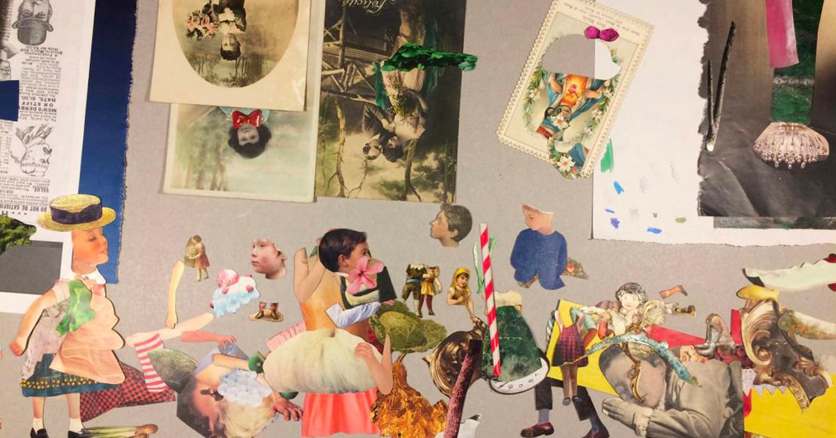 Il collage come strumento di lavoro – con Oscar Sabini